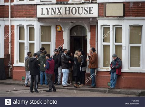 houses to buy in south wales lynx house in cardiff south wales which houses asylum seekers stock photo royalty
