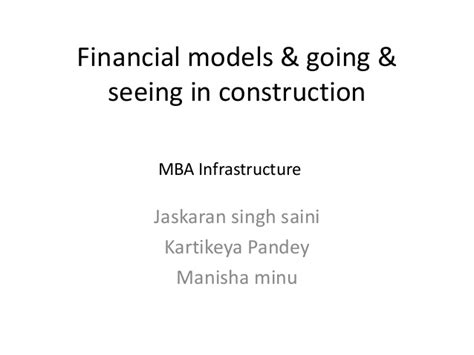 Mba In Infrastructure And Construction Management by Going Seeing In Construction
