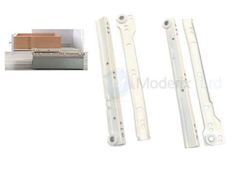 roller drawer runners metal white kitchen size 550mm