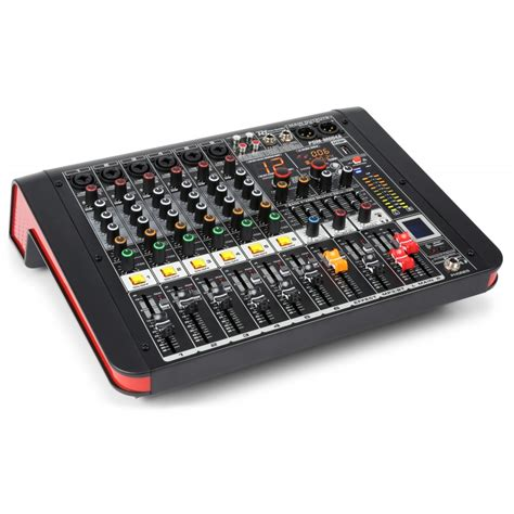 Mixer Power power dynamics pdm m604a 6 channel powered mixer bt dj city
