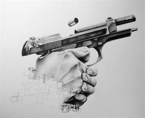 tattoo gun tutorial beretta 92fs fan art by draw and fire the art of lorin