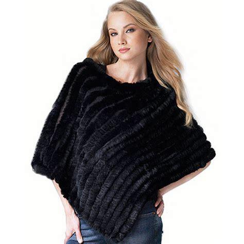 Outerwear Sweater Rabbit Sweater coat cloak rabbit fur scarf triangle sweater pullover jacket poncho new ebay
