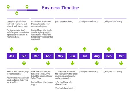 timeline sle in word project timeline office templates