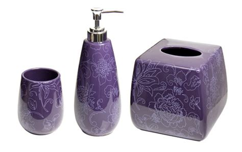 let purple bathroom accessories glorify your bathroom
