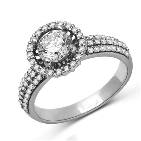 luxurious halo cheap engagement ring 1 00 carat cut