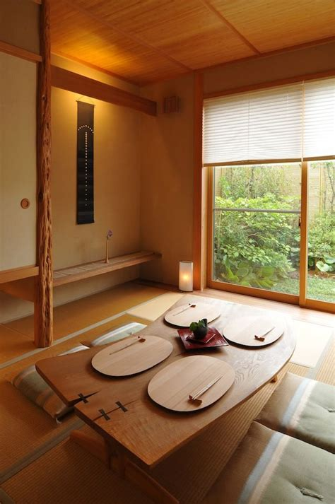 japanese style dining tables  interior design identity