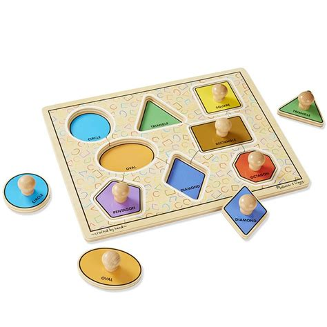 Puzzle Knob Number Type A large shapes jumbo knob puzzle educational toys planet