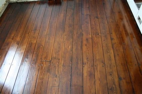 restored wide plank pine floors complete  top nails