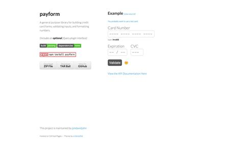 Credit Card Form Github Our Favorite Jquery Plugins And Libraries For 2015 Idevie