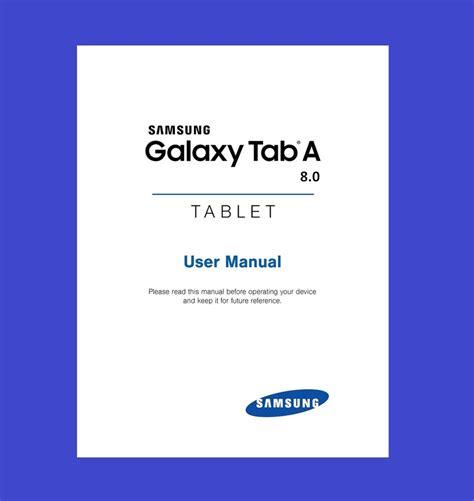 one user manual samsung galaxy tab a 8 0 model sm t350 user manual ebay