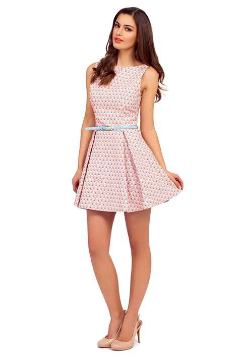 light pink shirt dress light pink sleeveless raised jacquard skater dress
