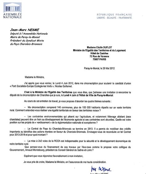 Exemple De Lettre D Invitation A Un Ministre Modele Invitation Ministre Document