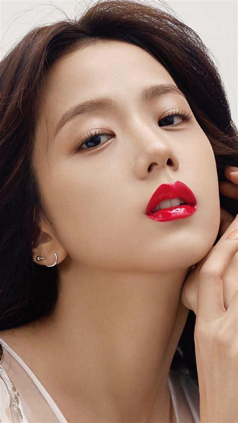 hp kpop blackpink girl red lips wallpaper