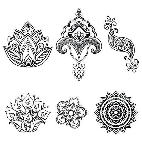 henna tattoo template mehndi design template