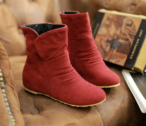 Heels Boot Korea Gds 284 fashion autumn winter flat heel stiletto ankle boots korean shoes ebay