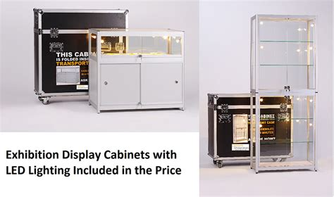 cabinet and expo portable folding exhibition glass display cabinets