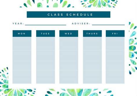 canva schedule customize 31 class schedule templates online canva