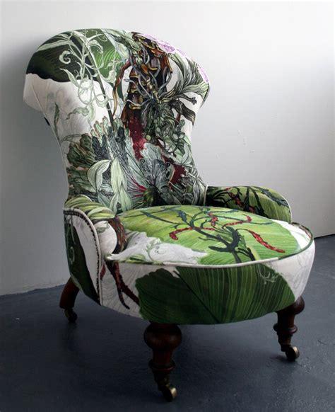 Printed Armchair Design Ideas Trim Decorating