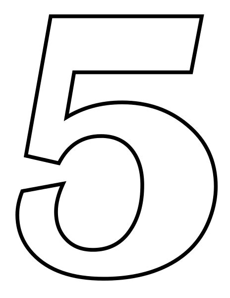 Number 5 Coloring Pages For Toddlers by File Classic Alphabet Numbers 5 At Coloring Pages For