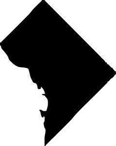 washington dc district  columbia outline silhouette