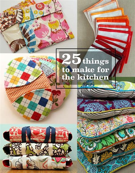 crafts sewing 25 things to sew for the kitchen sewing tutorials