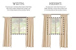 How To Make Extra Wide Curtains 2 Hanging Curtains On The Wall