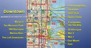 Map Of Downtown Miami by Downtown Miami Condo Map Miami Beach Condo For Sale Florida