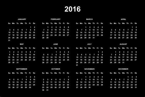 printable calendar 2016 black and white 2016 calendar free stock photo public domain pictures