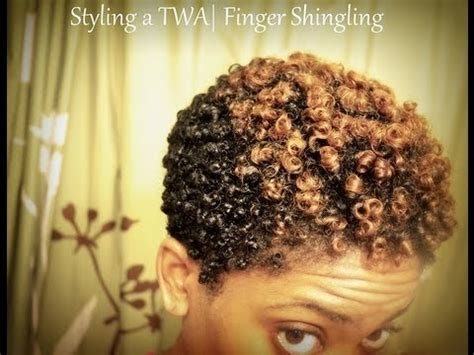 How To Finger Shingle Short To Medium Hair | styling a twa updated finger shingling routine youtube