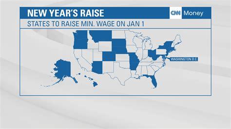 minimum wage 21 washington among 21 states raising minimum wage on january