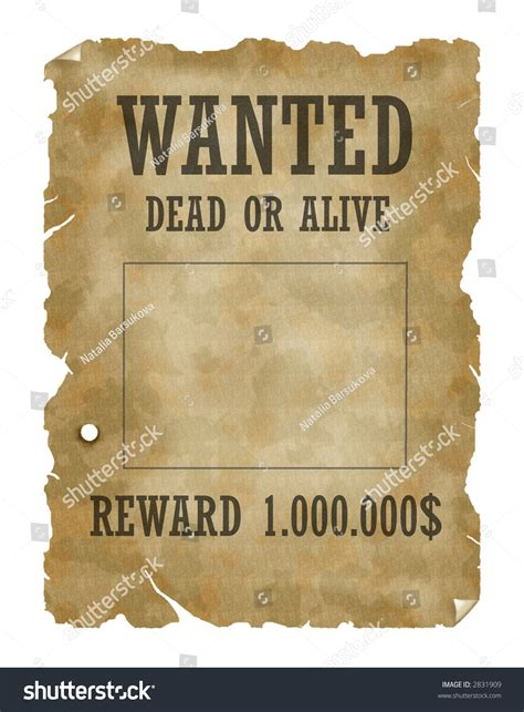tutorial wanted dead or alive poster wanted dead alive stock illustration 2831909