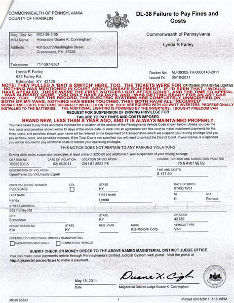 bench warrant for not paying fines jail threat 1 do see the notes on it license