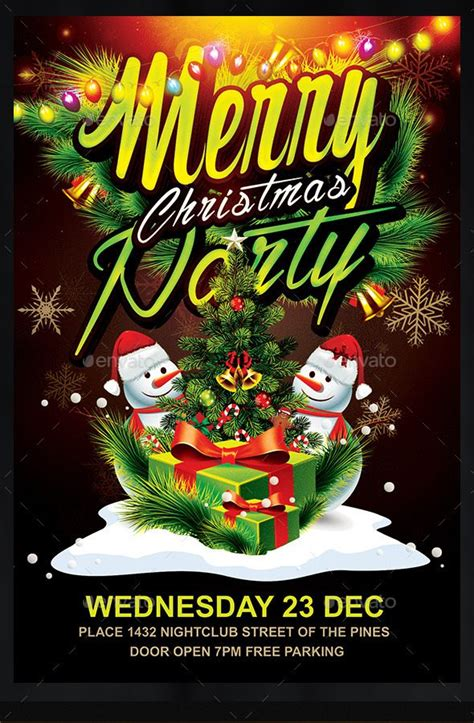Children039s Christmas Party Flyer Templates 16 free flyer psd template images