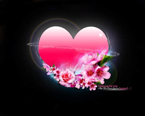Wallpaper Flower And Heart | heart flowers wallpapers hd wallpapers id 5468