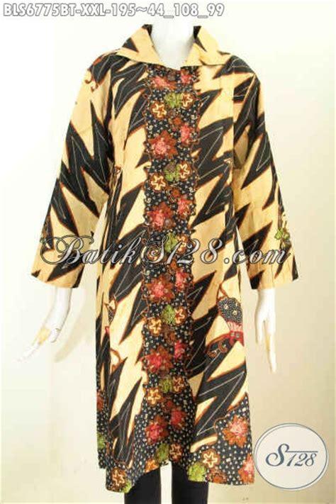 desain baju batik buat orang gemuk koleksi terbaru blus batik buat wanita batik dengan motif