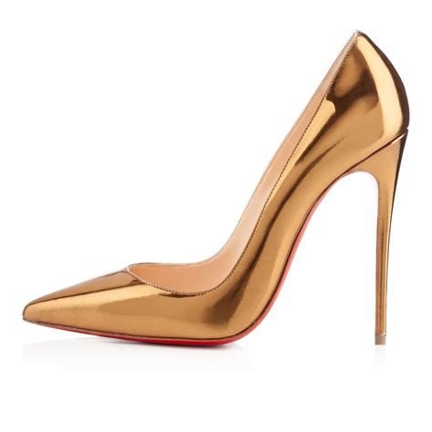 Shoes Christian Louboutin Luxury Gold Po20 christian louboutin gold shoes