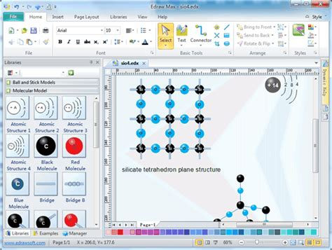 molecular model diagram software  examples