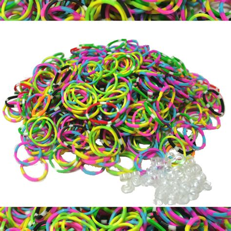 Diskon Loom Bands Solid Colour 600 qty 600 tie dye rubber bands for loom rainbow bracelets 25 s us ebay