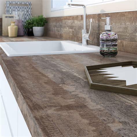 adh駸if pour plan de travail cuisine plan de travail stratifi 233 vintage wood mat l 315 x p