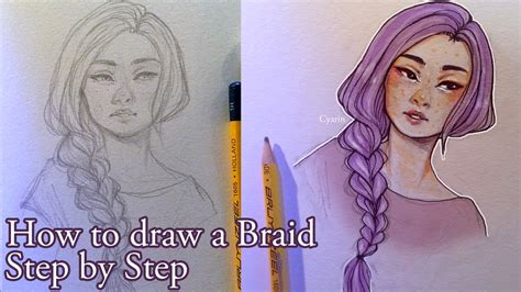 how to do doodle braids step by step how to draw a braid