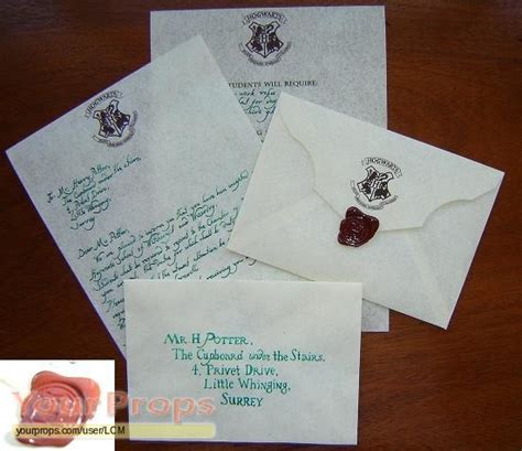 Hogwarts Acceptance Letter Replica Harry Potter Hogwarts Acceptance Letter Replica Prop