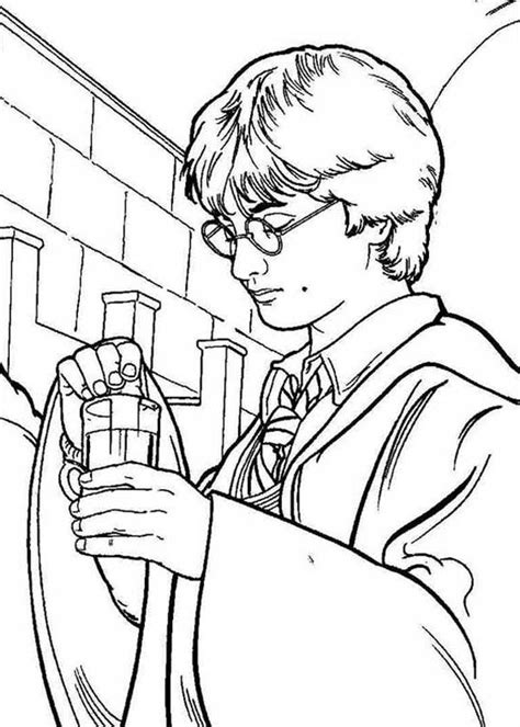 harry potter coloring pages half blood prince potion coloring home harry potter make his polyjuice page