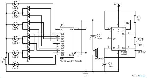 clock generator circuit diagram clock with led pendulum and tick tock sound circuit diagram