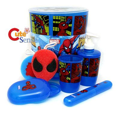 marvel bathroom set marvel spiderman 8pc bathroom set w cotton bath towel ebay
