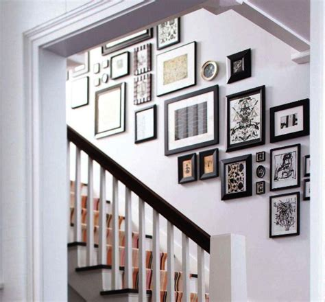 ideas on hanging pictures in hallway hallways and stairs decorating tips utilizing empty space in hallways as storage decor advisor