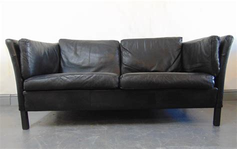 kingdom of leather sofas 1960 s vintage danish black leather sofa kingdom