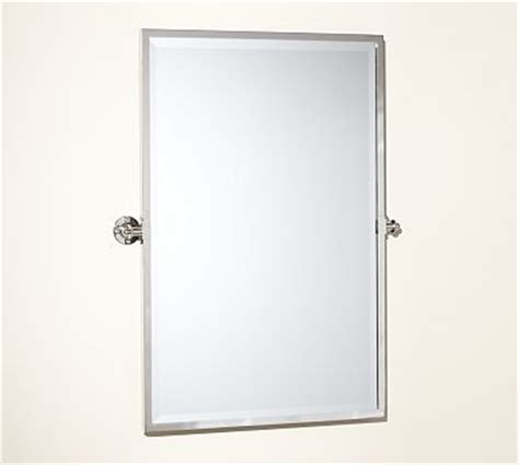 kensington pivot mirror large rectangle polished