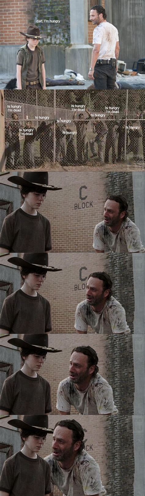 Walking Dead Rick Crying Meme - hilarious dad jokes from the walking dead s rick grimes