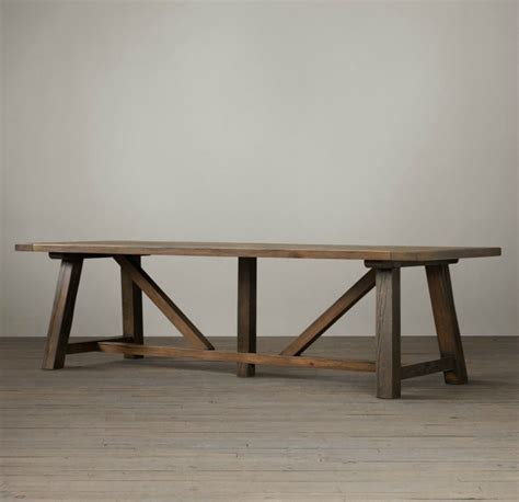 How To Build A Trestle Dining Table How To Make Trestle Dining Table Home Design Ideas