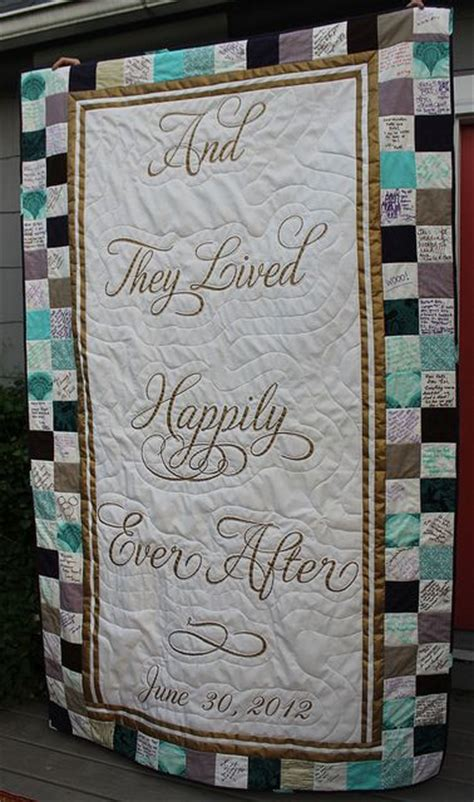 Wedding Quilt Sign by Wedding Quilt Patterns That Guests Sign Recent Photos